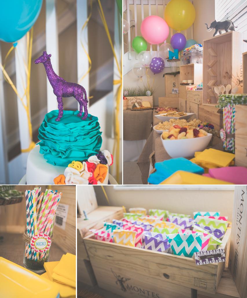 Wild Animal themed birthday party for a girl via Karas Party Ideas ...