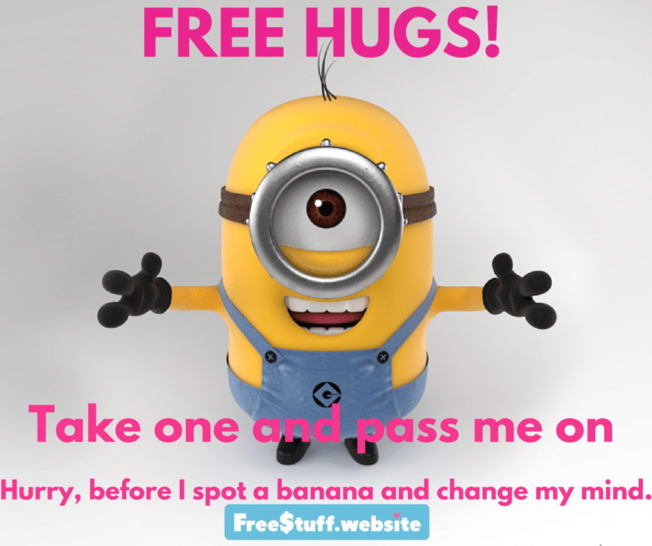 Charming A Free Hug From A Minion, Count Me In!