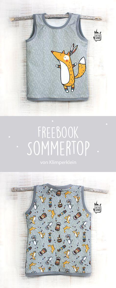 Photo of Freebook »Sommertop» syet af søde stofpaneler
