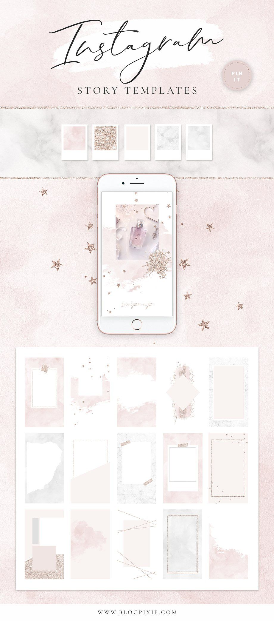 Instagram Stories Pack for Canva by Blog Pixie on