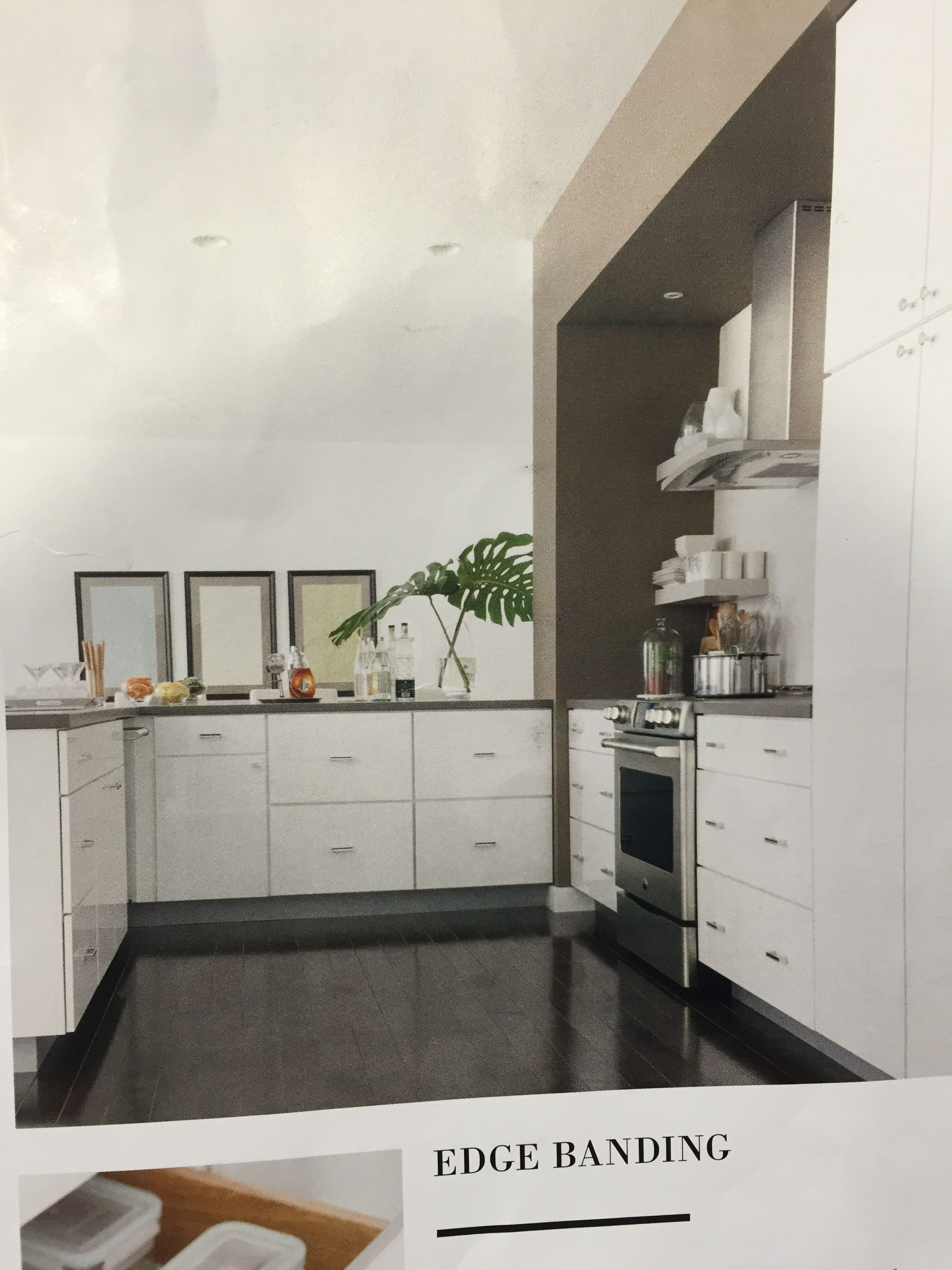 Grey counter to and white cabinets