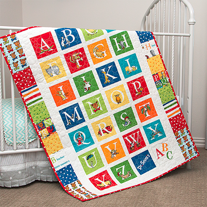 Handmade Dr Seuss Abc Alphabet Baby Crib Or Toddler Quilt