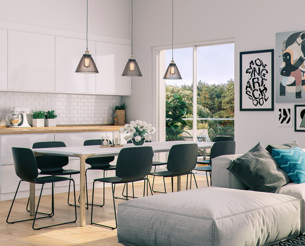 Modern Dining Room Designs Combined With Scandinavian Style Brings ...