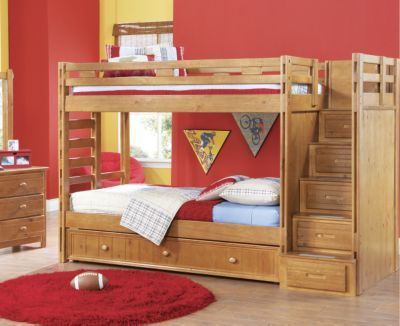 Creekside Taffy 3 Pc Twin Twin Step Bunk Bedroom $799 By Rooms to