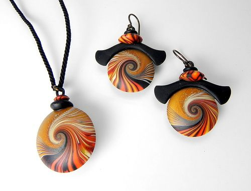 Artist-made polymer clay. Jewelry by Laura Timmins at Smith Galleries