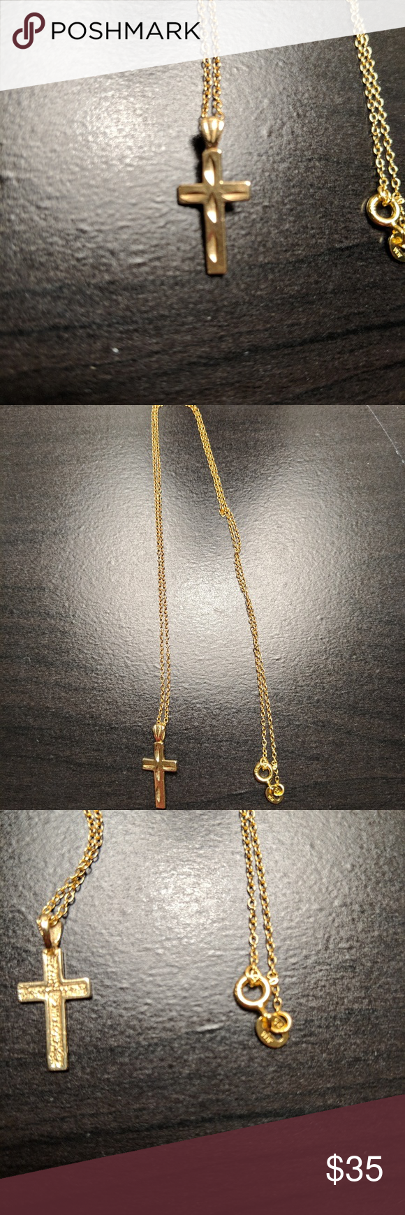 10kt Gold Cross 10kt Gold Cross With An 18in Chain The Cross Itself Is Three Quarters Of An Inch In Length Jewelry Necklaces 10kt Gold Gold Cross Gold