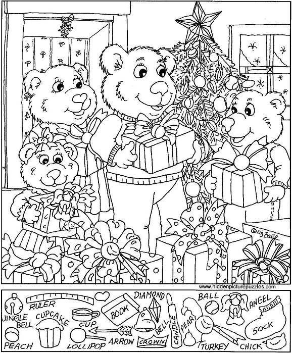 Gorgeous image throughout christmas hidden pictures printable