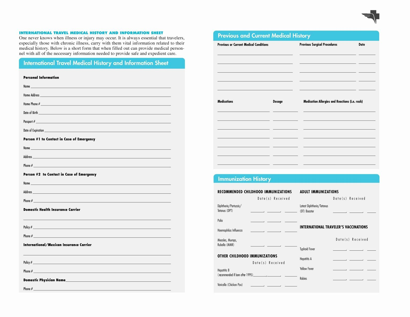 Family Medical History Questionnaire Template Inspirational Free Printables Family Medical Medical History Medical
