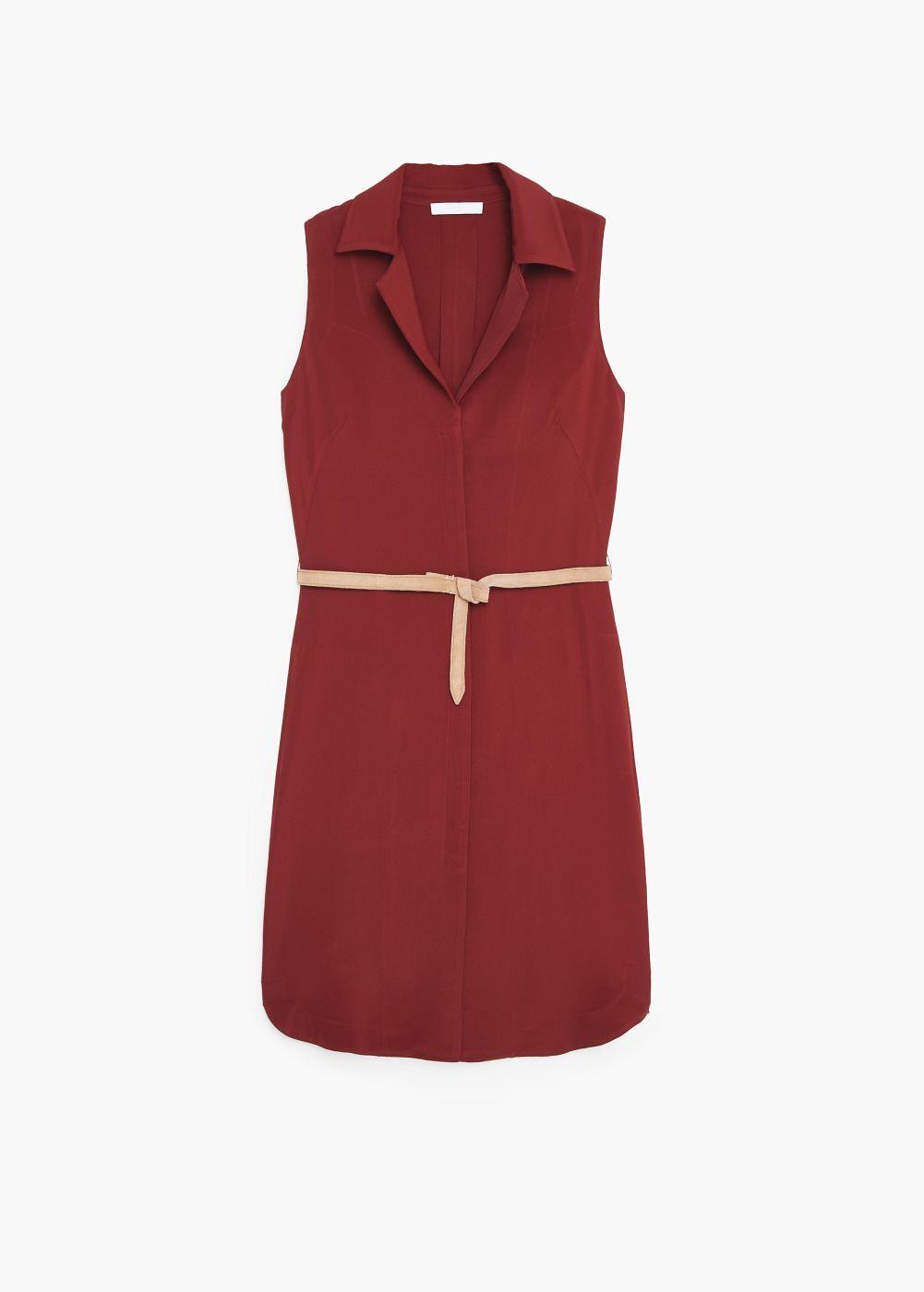 Premium Flowy Shirt Dress Women Clothes Shoes Dresses
