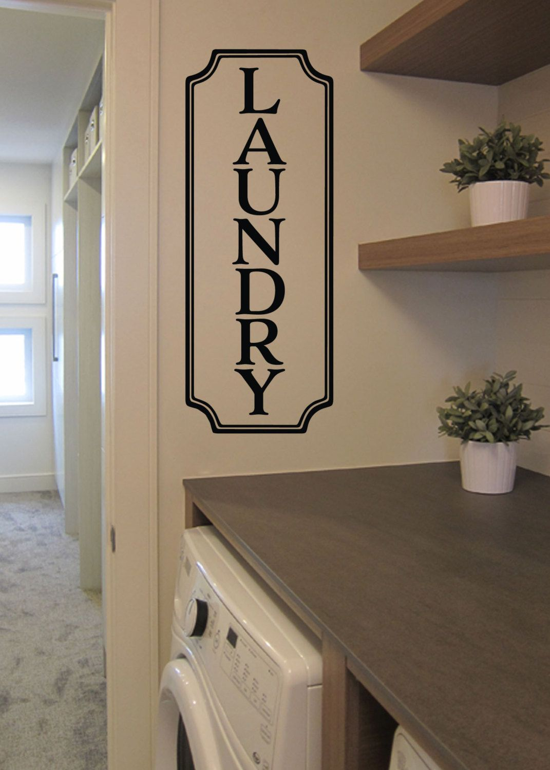 Laundry Vinyl Decal Laundry Room Decal Glass Door Decal Vinyl