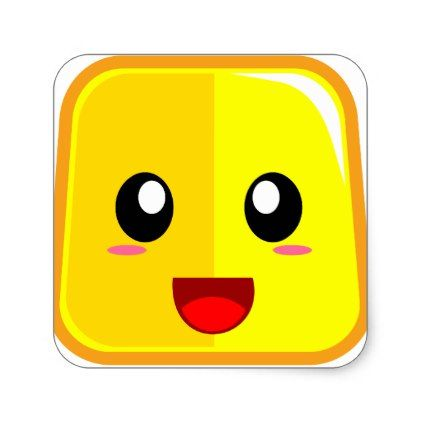 smiling face with open mouth emojicon square sticker emoji emojis smiley smilies