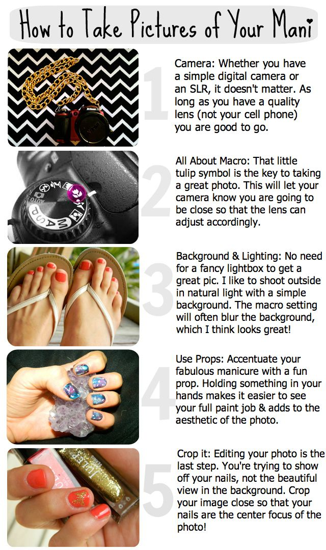 How to take pictures of your mani!!! #nails