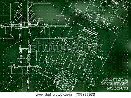 Mechanical engineering drawings technical design blueprints green mechanical engineering drawings technical design blueprints green background points bubushonok malvernweather Choice Image