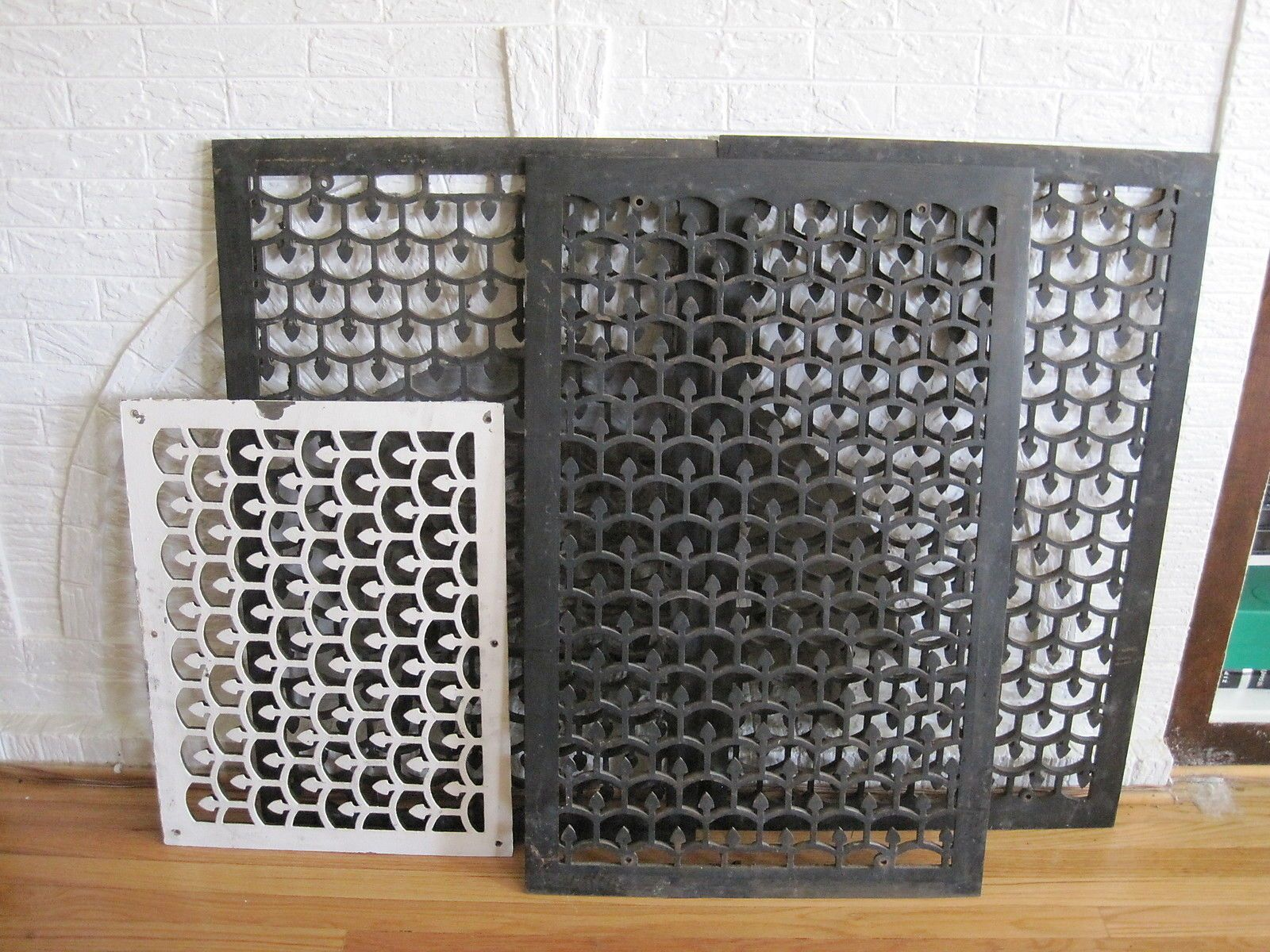 Vintage Large Cast Iron Decorative Heat Grate Vent Cover Table Top 25 X 39 Vent Covers Ceiling Decor Wall Grille