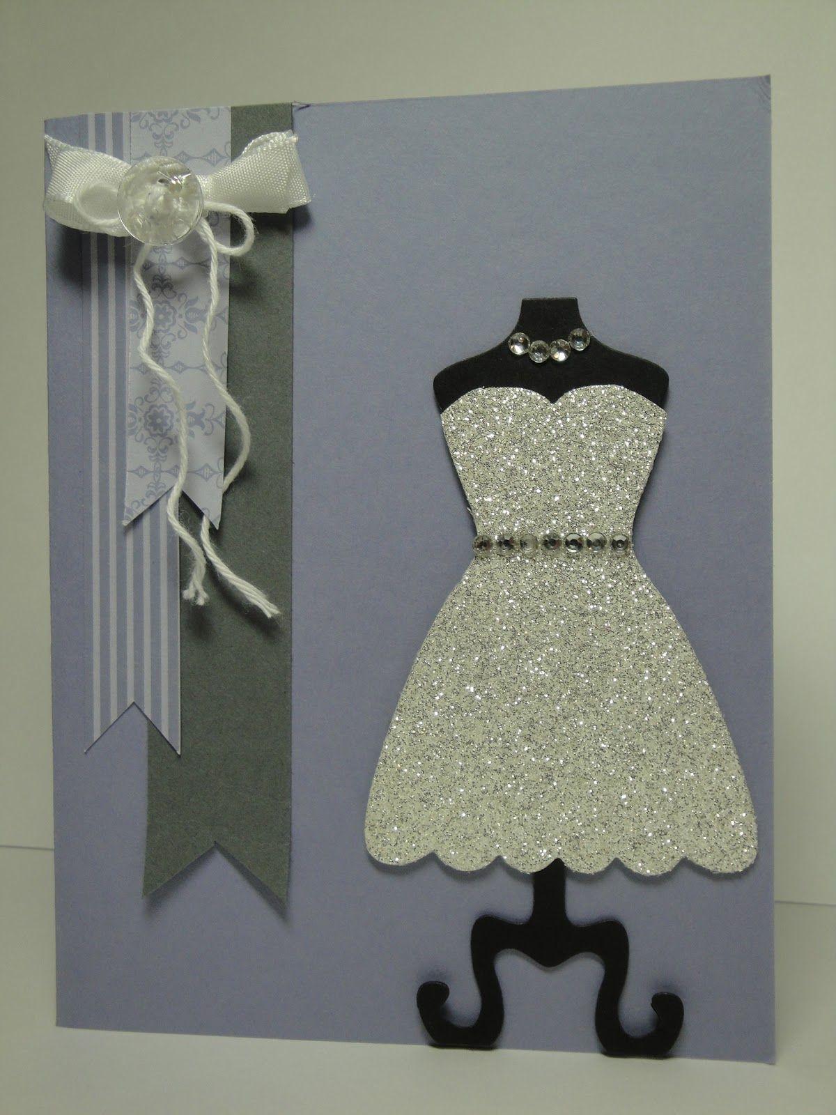 Сделать открытку платье