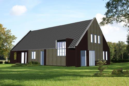 Nieuw te bouwen woonboerderij in yde architectuur for Nieuw huis bouwen