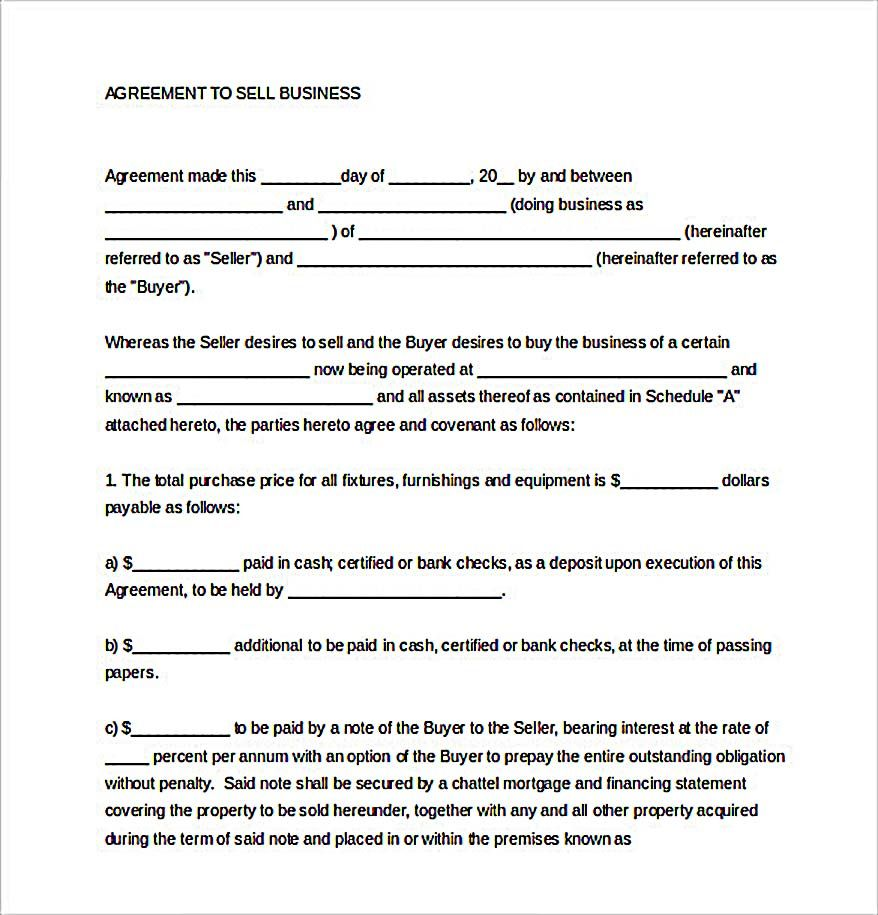 Example Sales Agreement Template  Reliable Sales Agreement