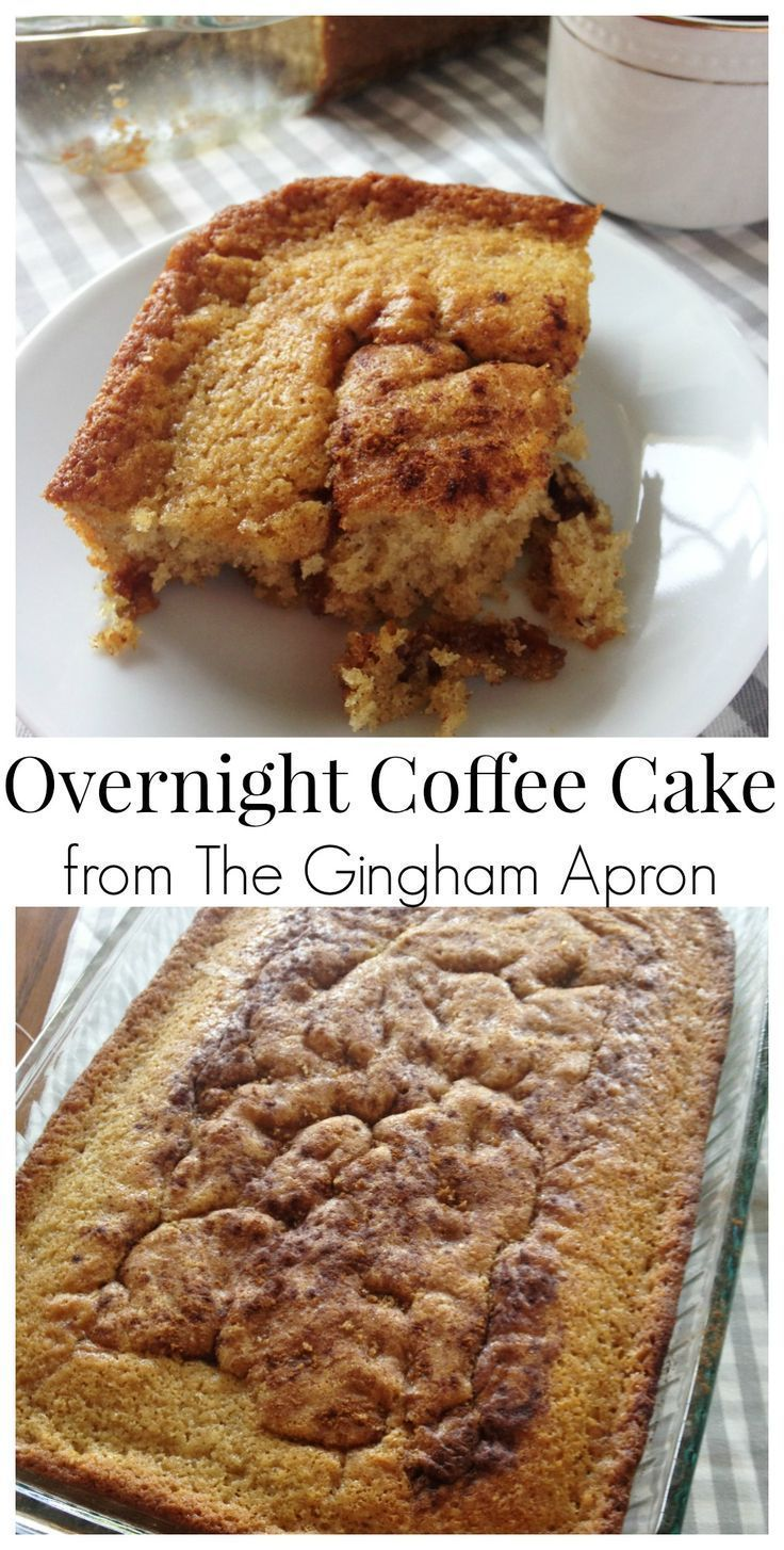 Overnight Coffee Cake And A Stained Recipe Card The Gingham Apron Recipe Overnight Coffee Cake Recipe Recipes Coffee Cake