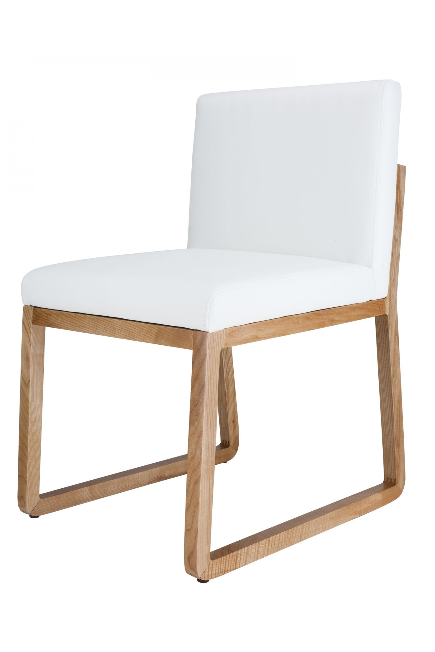 Carrera Side Chair Beech on White Industry West