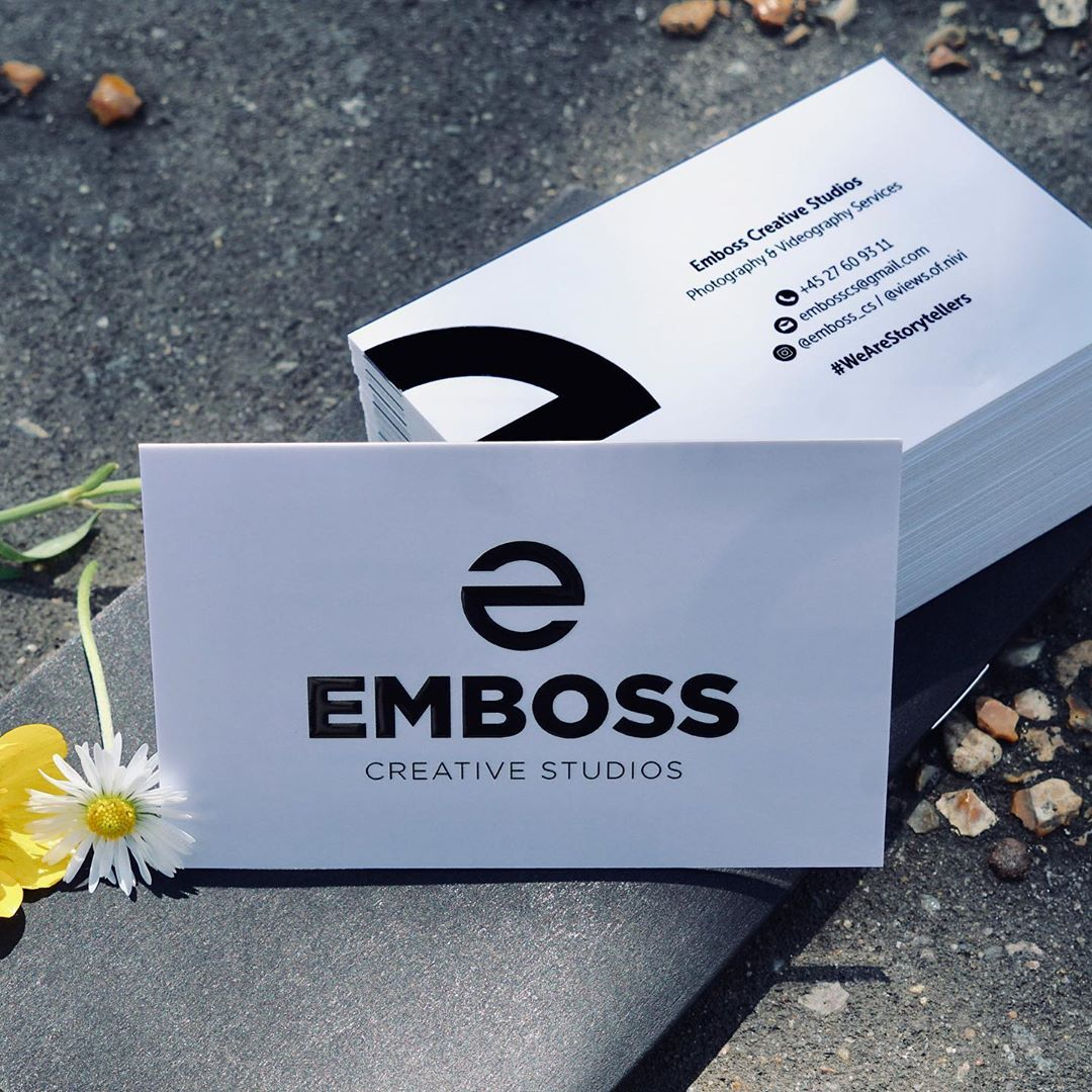 Business Cards Designed And Printed For Emboss Cs Views Of Nivi Using Raised Spot Uv Finish On 400gsm Extra Th Business Card Design Card Design Spot Uv
