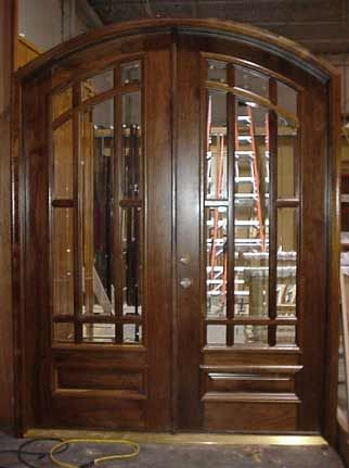 Unique Double Wooden Entry Doors