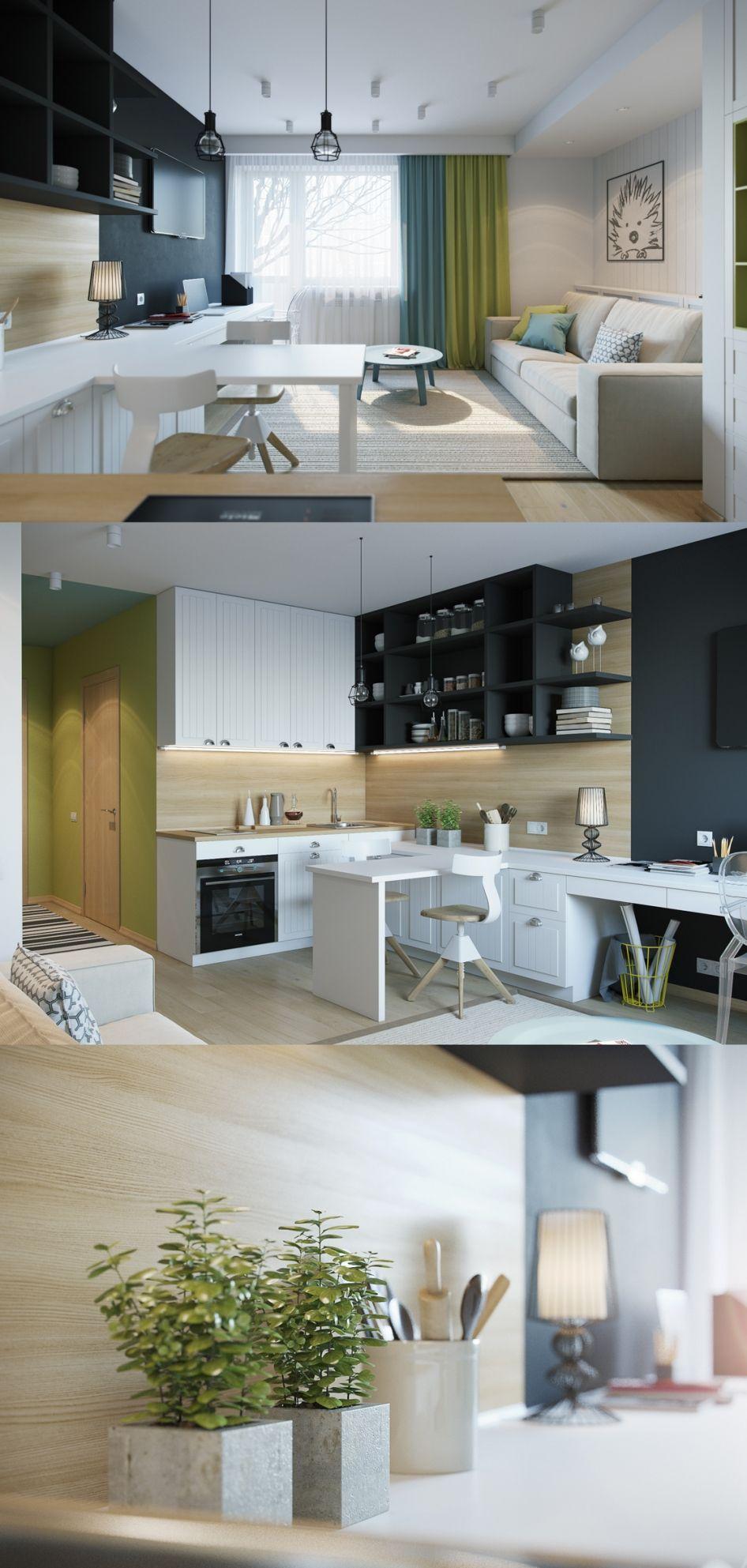 Квартира Студия ГаРерея 3ddd Small living