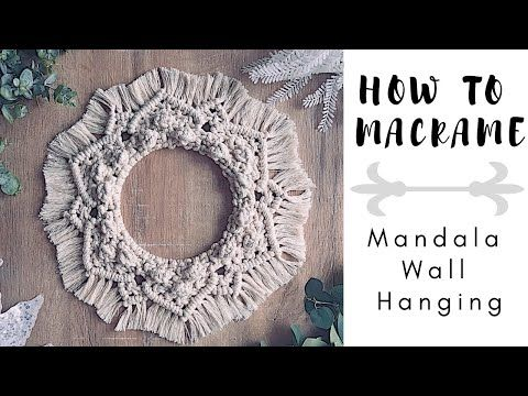 �️ How To Make DIY Macrame Mandala Wall Hanging | Step-by-Step Tutorial