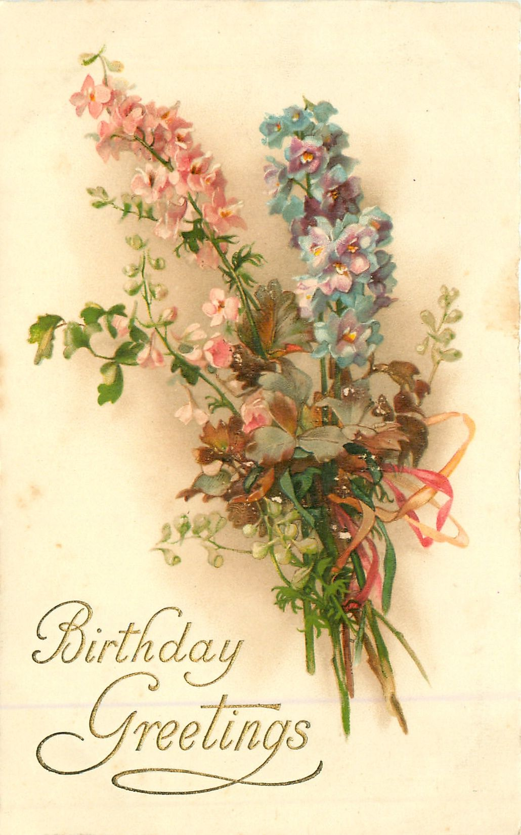 BIRTHDAY GREETINGS Bouquet Of Flowers
