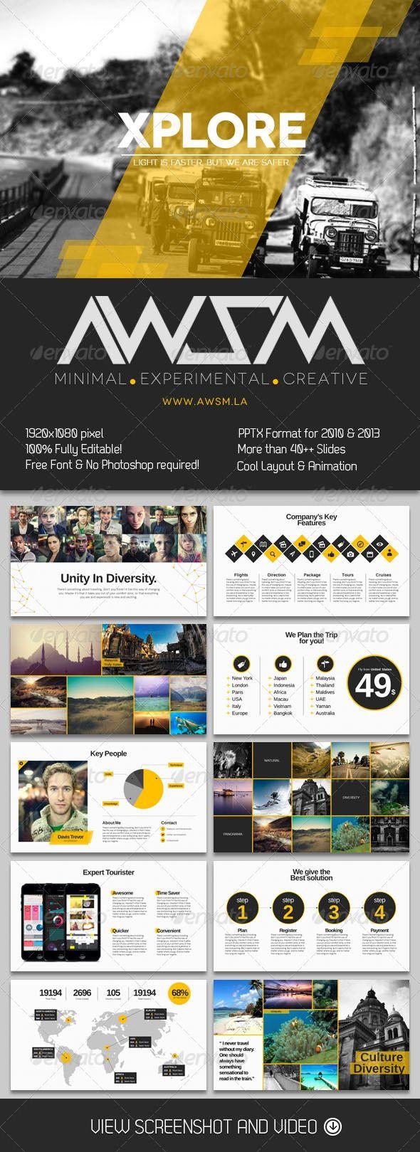 xplore magazine powerpoint presentation - miscellaneous powerpoint, Modern powerpoint