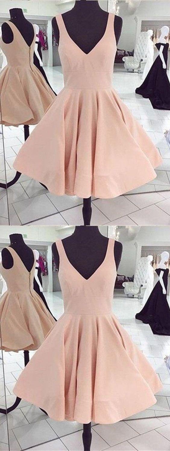 Elegant vneck swing ball gowns prom dresses short homecoming