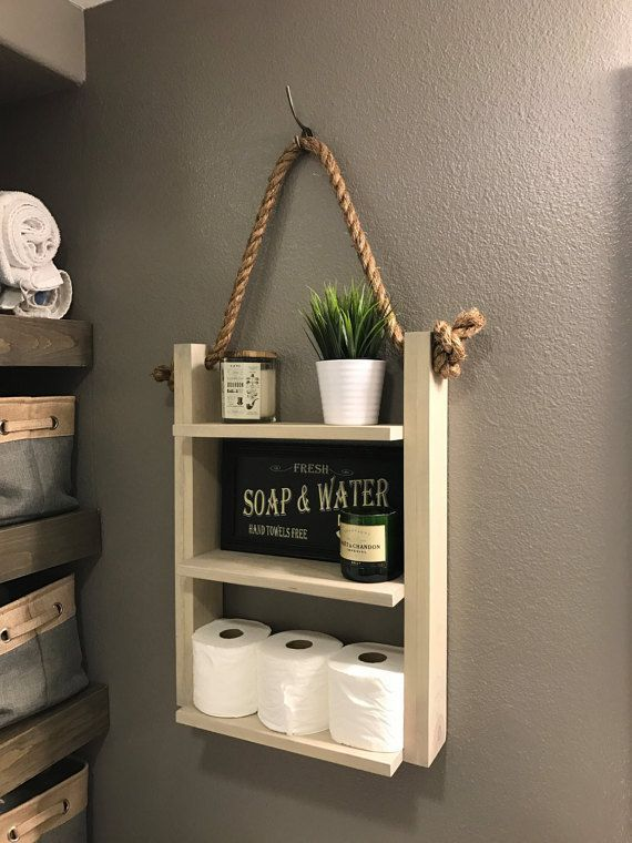 Photo of Wood suspension and shelf rope ladder Hanging rope & shelf – Modern