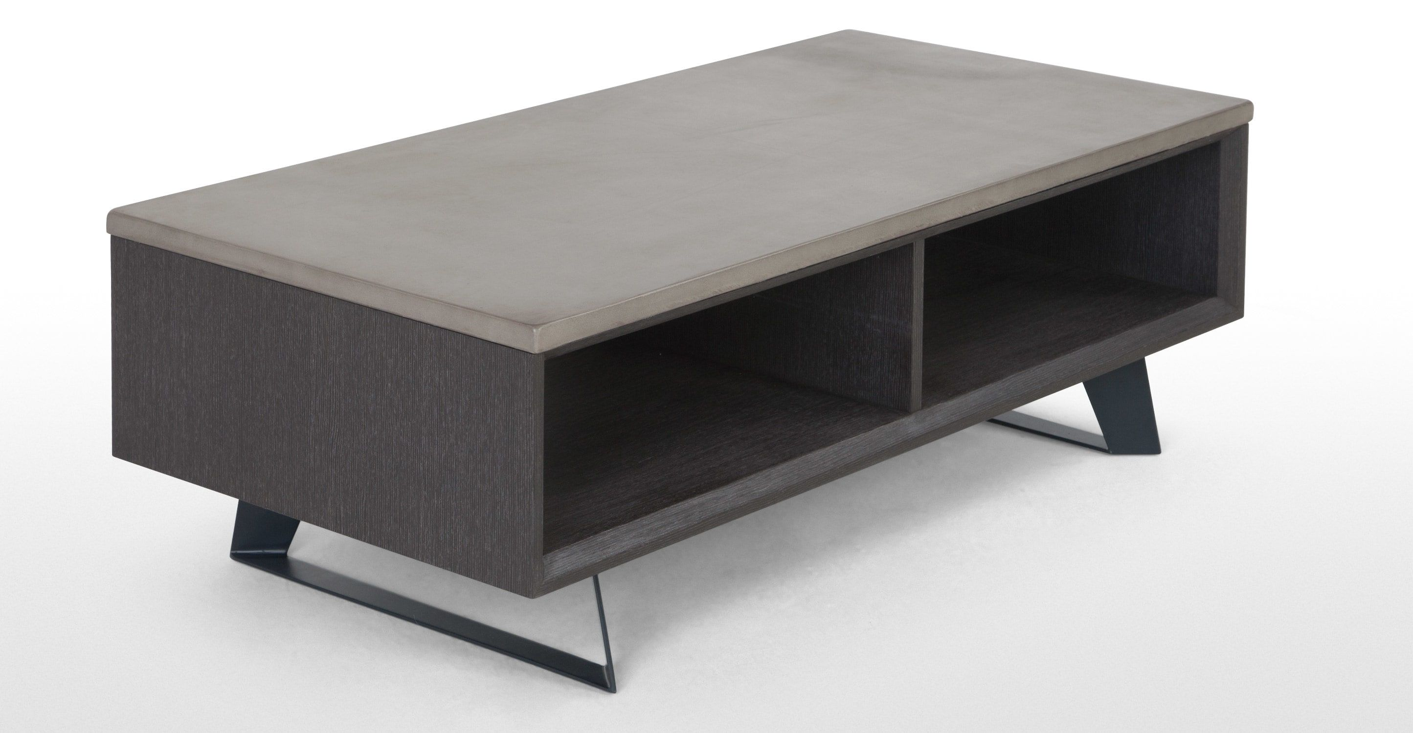 Boone Coffee Table With Storage Concrete resin top from Made