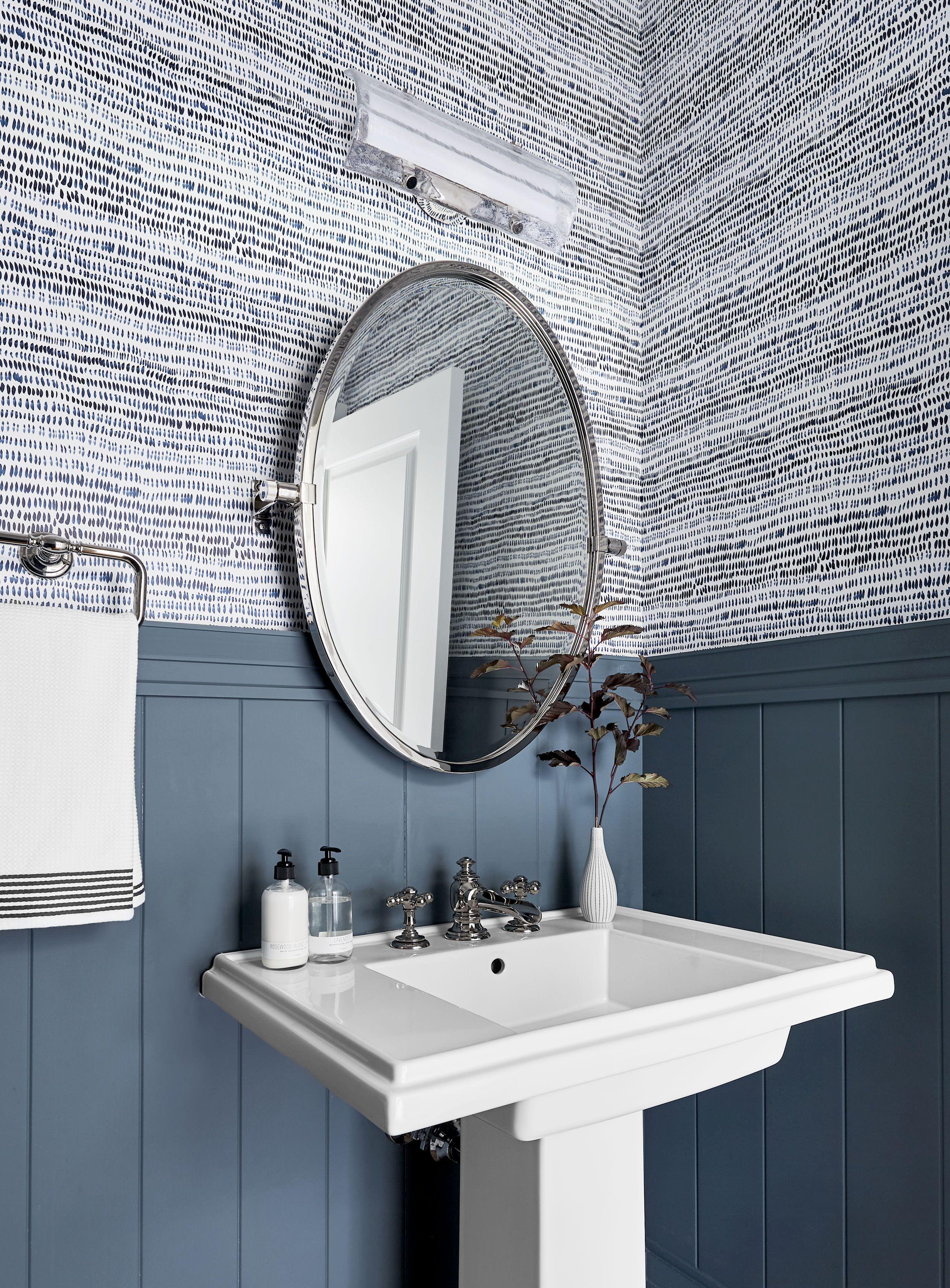 Emily Henderson Portland Traditional Powder Room5 home style Bathroom Renovations Em Henderson