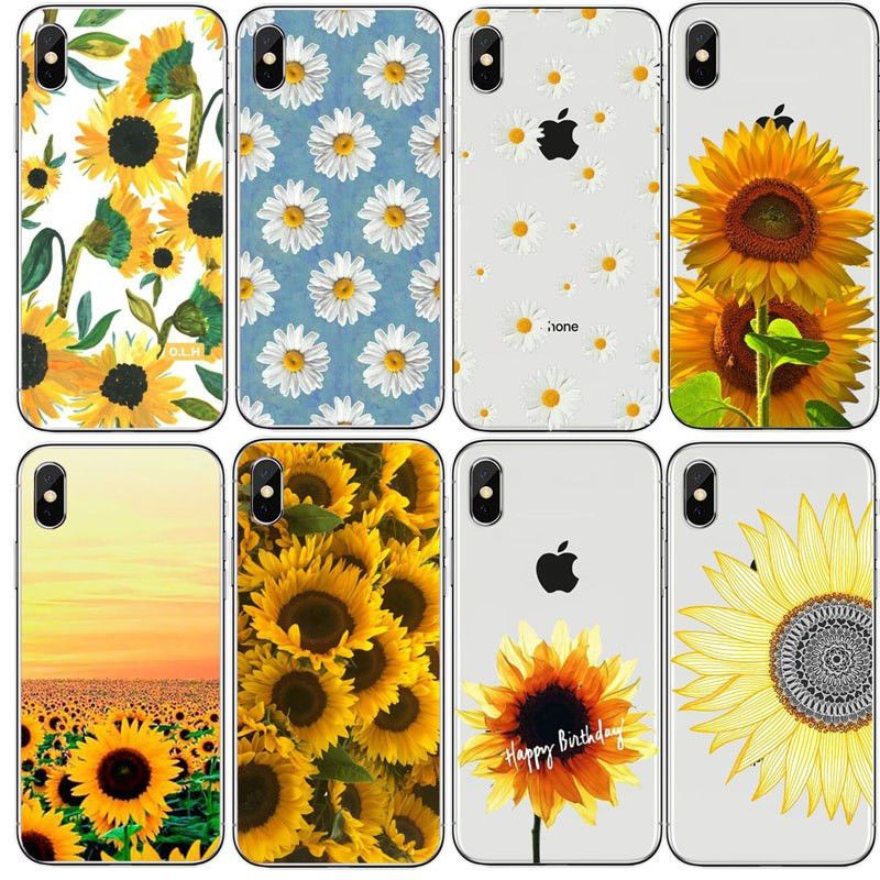 Daisy Sunflower Floral Flower Hard PC Phone Case For