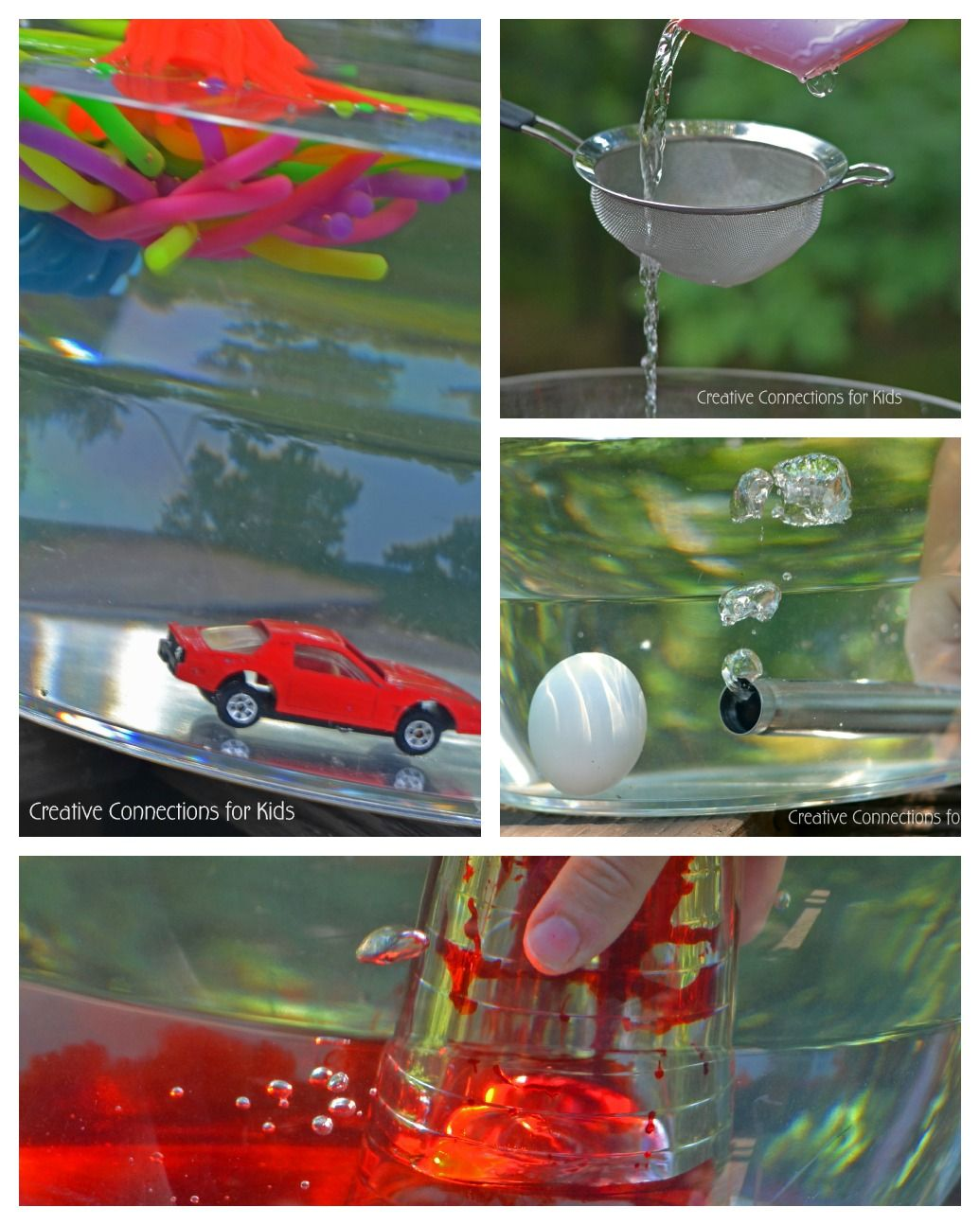 Numerous water science/play ideas - love!