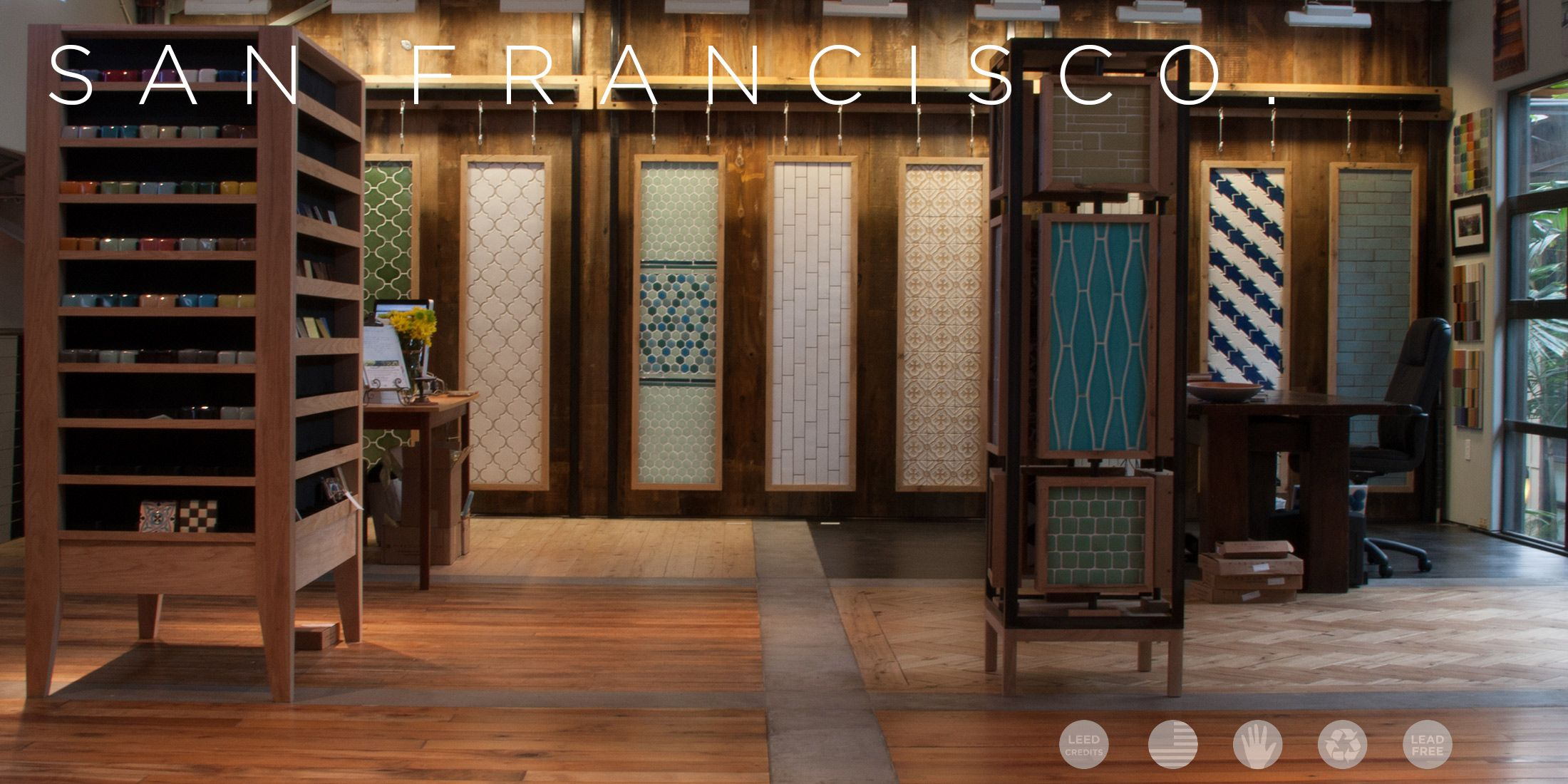 Fireclay san francisco showroom fireclay tile is the leading fireclay san francisco showroom fireclay tile is the leading ceramic tile company using recycled materials dailygadgetfo Images