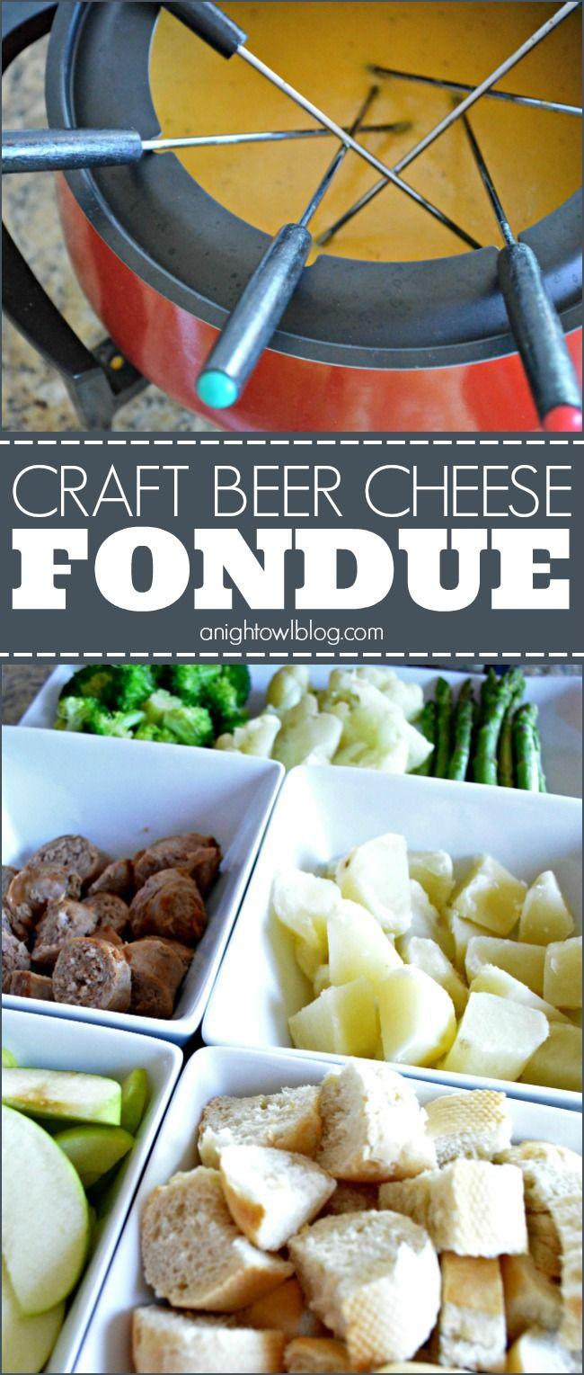 Craft Beer Cheese Fondue