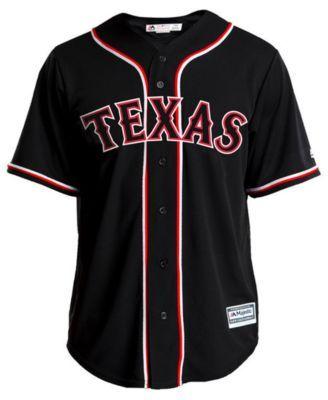 big sale 0b6f4 713cb Majestic Men's Rougned Odor Texas Rangers Pitch Black Jersey ...