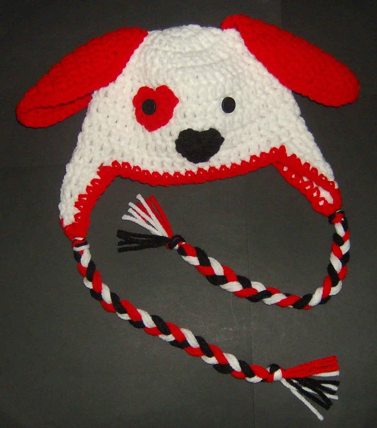 Crochet puppy hat red no pattern crochet hats headbands crochet crochet puppy hat red no pattern bankloansurffo Gallery