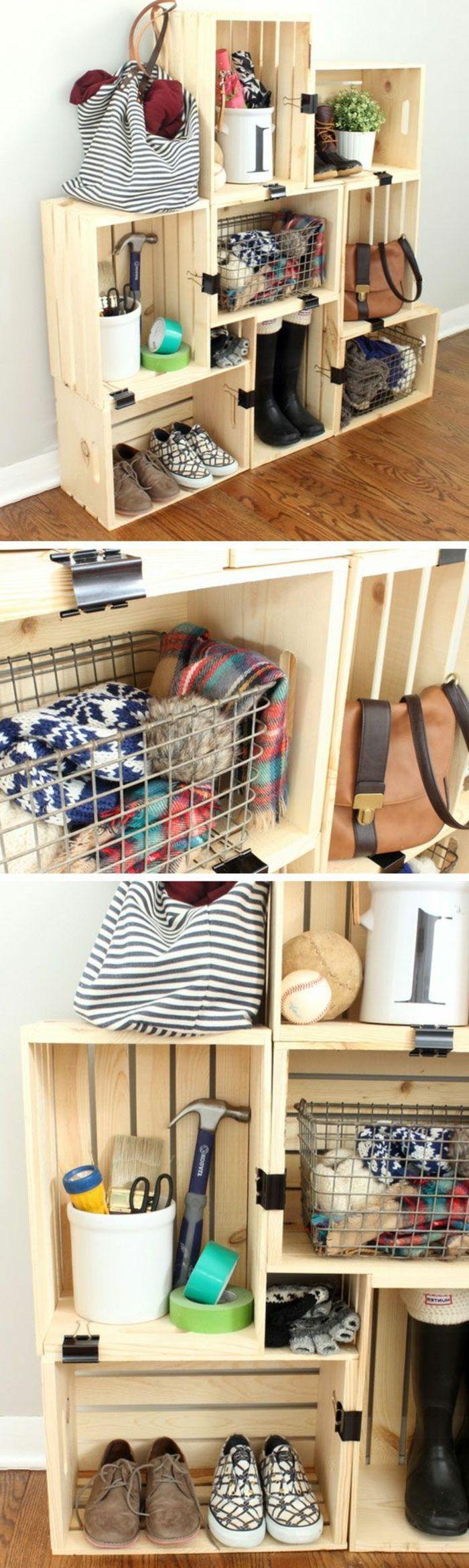 Fabriquer Des Rangements En Bois ▷1001+ idées pour fabriquer une étagère en cagette soi-même