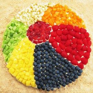 beach ball fruit pizza beach birthday party ideas birthdays