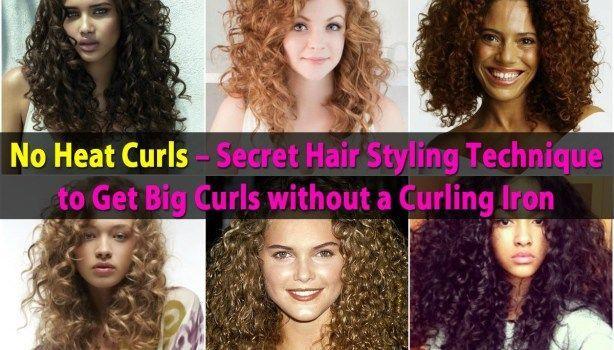 No Heat Curls – Geheime Haarstyling-Technik für große Locken ohne Lockenstab -…