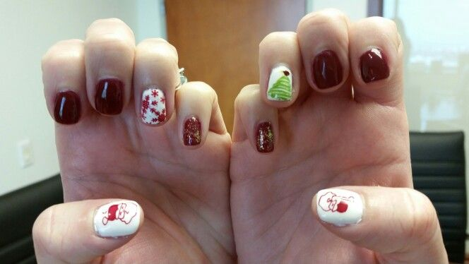 maydell s christmas vacation nails elite99 tinted love and gelish artic white f pm base top maydell317