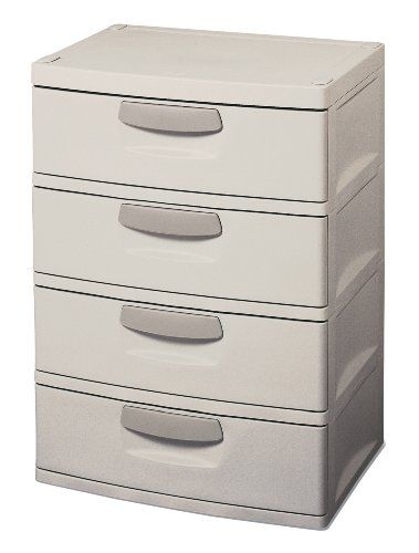 Sterilite 01748501 4 Drawer Storage, Light PlatinumSterilite 01748501 4 Drawer Storage, Light Platinum Features:
