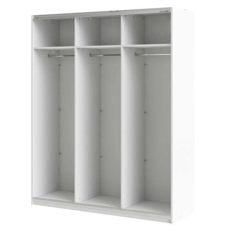 Bunnings 589 2m H Flexi Storage White Sliding Wardrobe 3 Door Frame Sliding Wardrobe White Sliding Wardrobe Storage