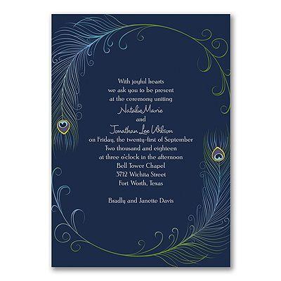 Romantic Peacock - Invitation