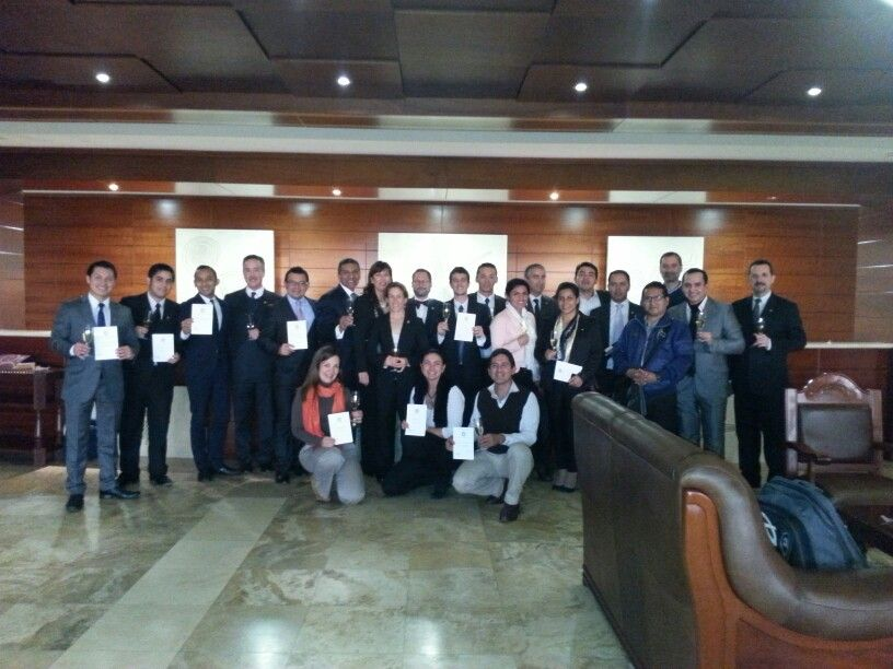 Con el grupo del primer nivel Introductory CMS