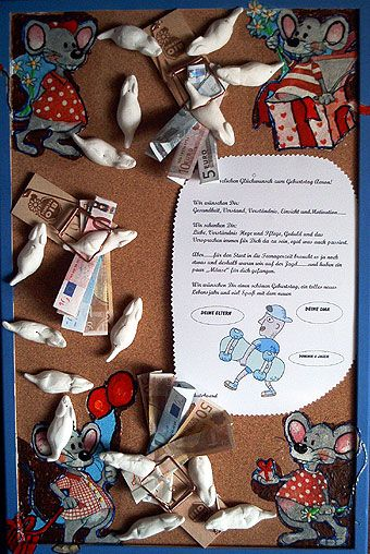 Mäuse als Geldgeschenk - creadoo.com | DIY | Gifts ...