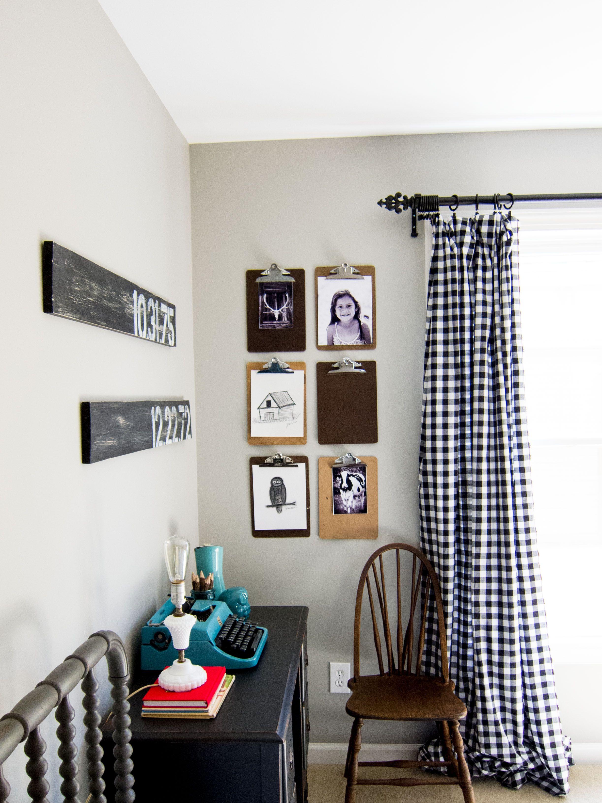 DIY Vintage Clipboard Wall Display DIY Vintage
