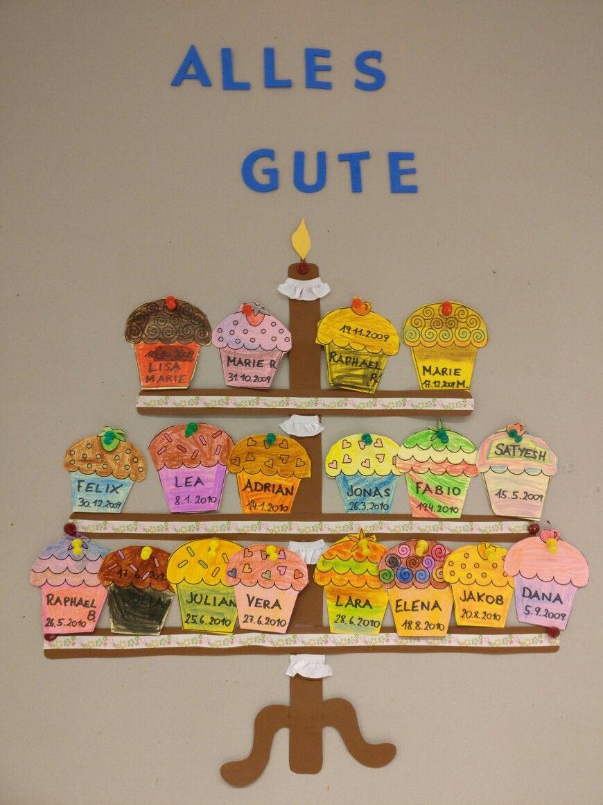 Geburtstagskalender Deko Klassenzimmer